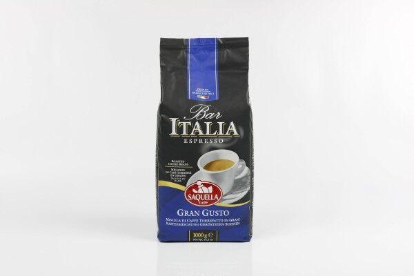 SAQUELLA Espresso Bar Italia Gran Gusto 8 X 1 KG Bohnen im Beutel