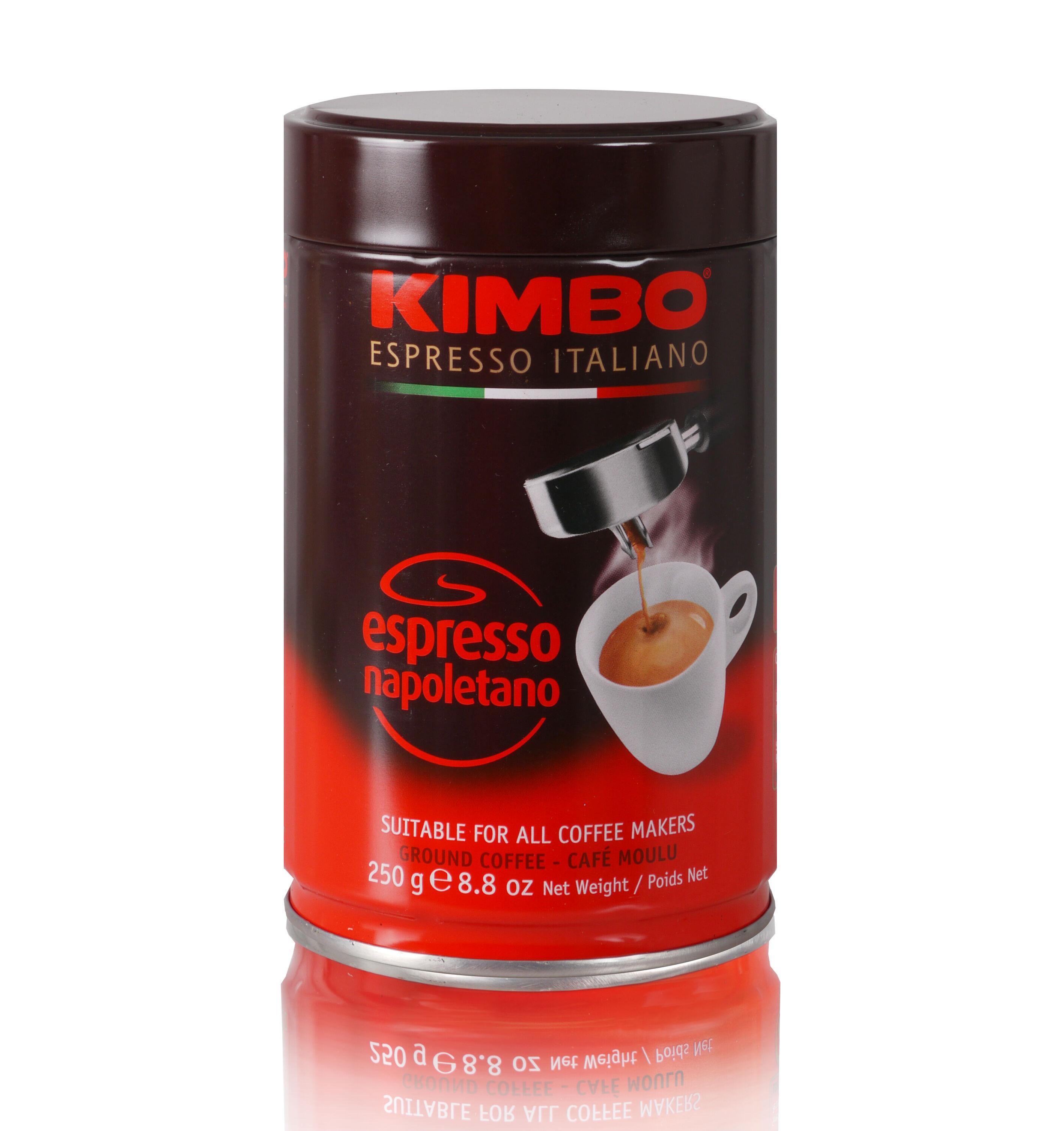 KIMBO Espresso Napoletano 12x 250 g gemahlen in Dosen