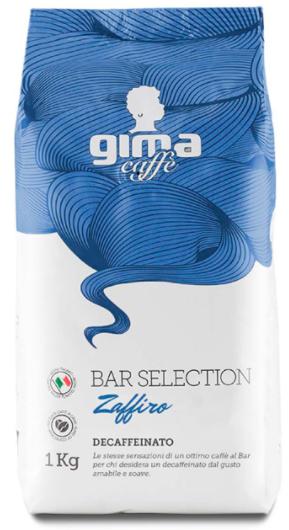 GIMA Zaffiro Decaffeinato 12 X 1 KG pupiņu maisiņā
