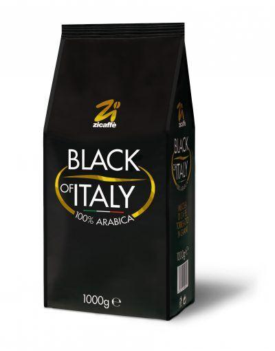 Zicaffè Black of Italy 100% Arabica 6 X 1 KG Bohnen im Beutel
