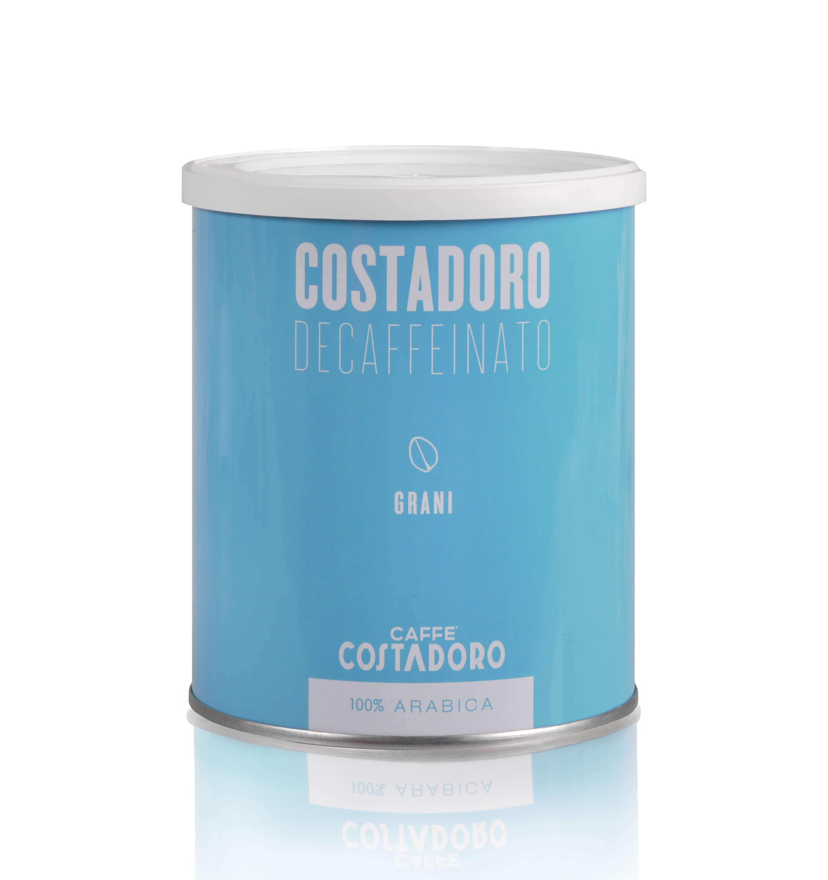 COSTADORO Decaffeinato 12x 250 g Bohnen in Dosen