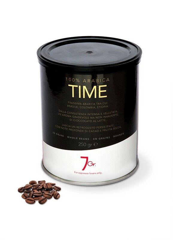 7 GR. TIME COFFEE 100% Arabica 250 g Bohnen in der Dose