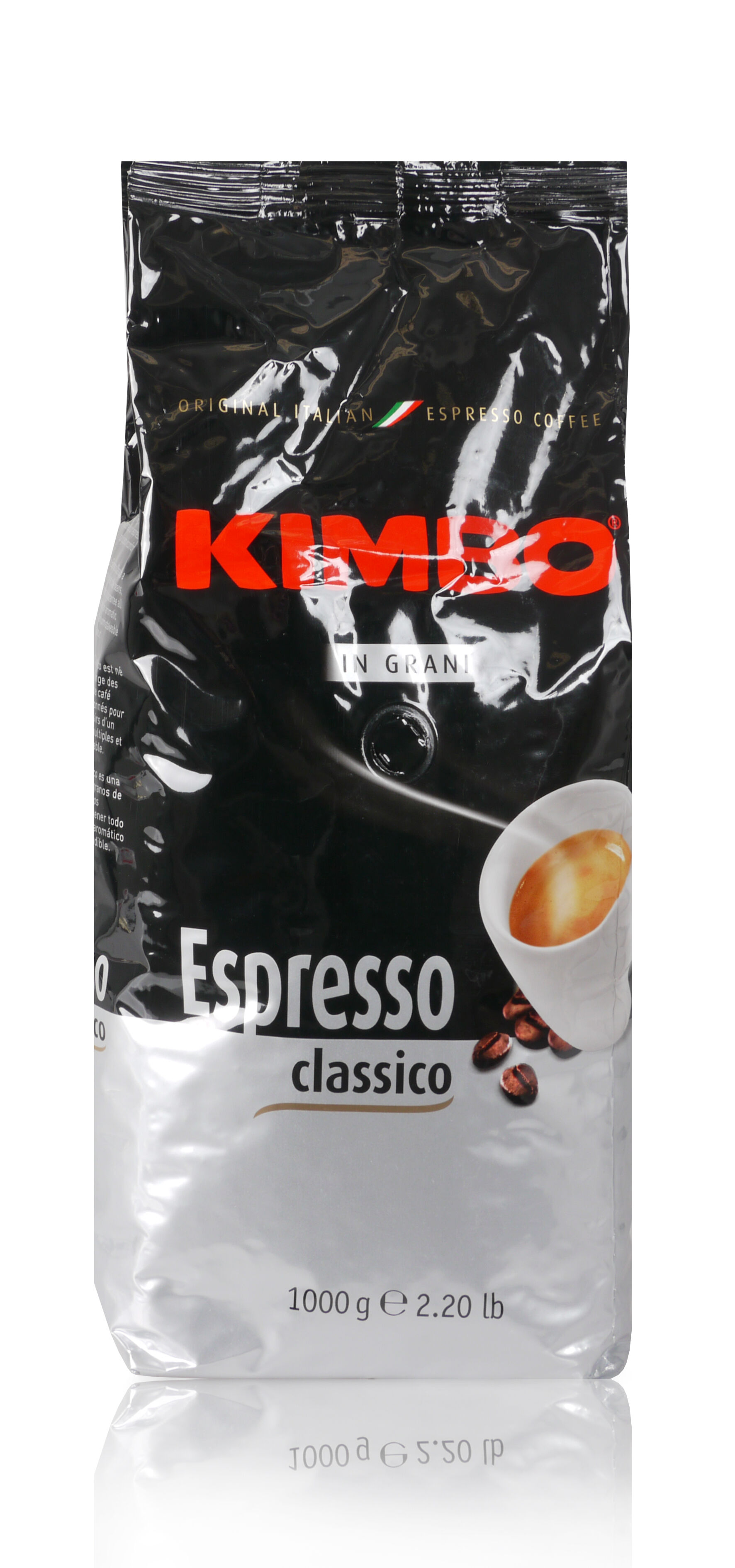 KIMBO Classico 6 X 1 KG Bohnen im Beutel