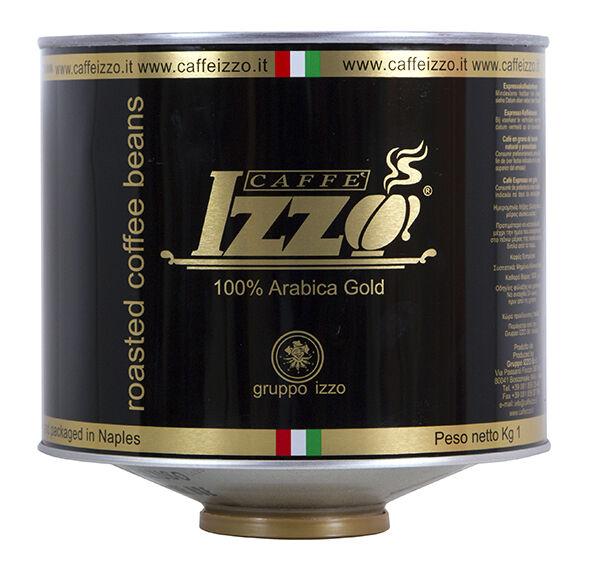 Izzo Caffè Espresso Arabica Gold 6x 1 KG Bohnen in Dosen
