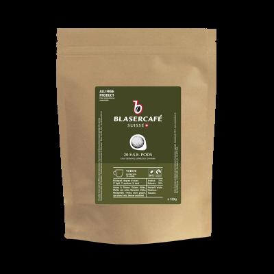 Blasercafé Verde BIO Fairtrade DE-ÖKO-006 20 ESE-Pads je 6,95 g gemahlen