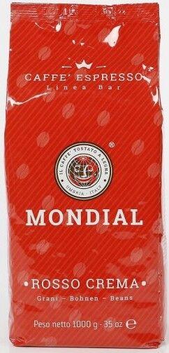 Mondial Rosso Crema 9 X 1 KG Bohnen im Beutel