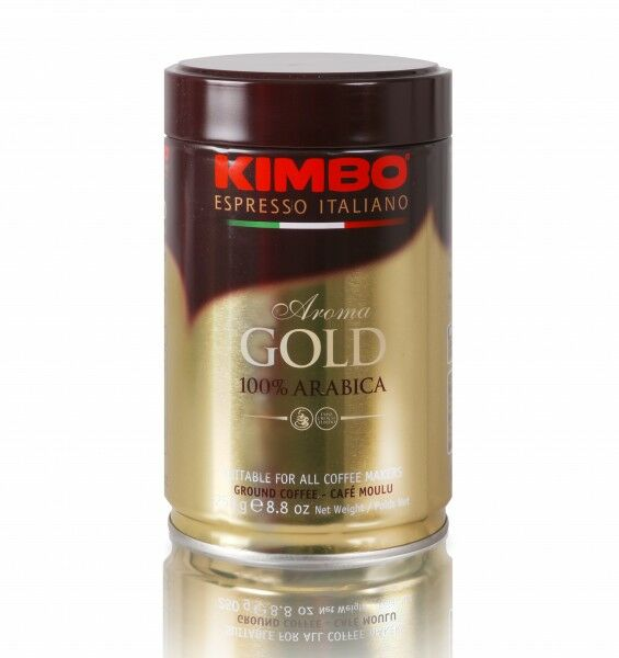 KIMBO Aroma Gold 100% Arabica 12x 250 g gemahlen in Dosen