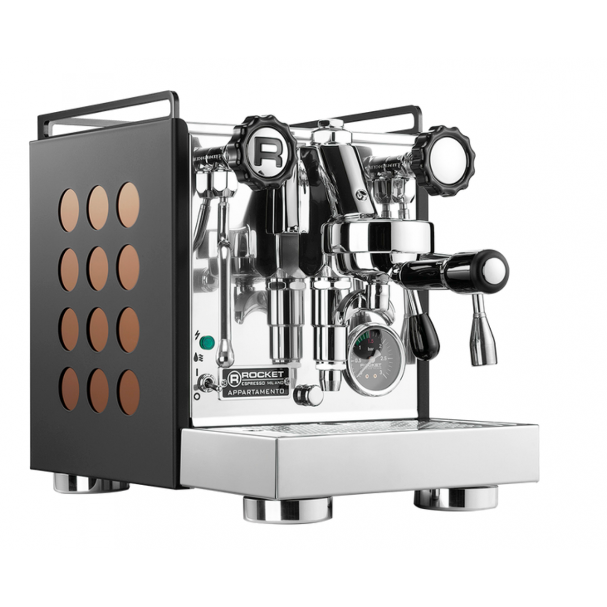 Rocket Appartamento Nera Kupfer Espressomaschine Sonderedition