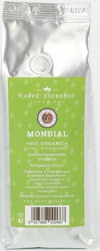Mondial BIO Organic 12x 250 g Bohnen im Beutel