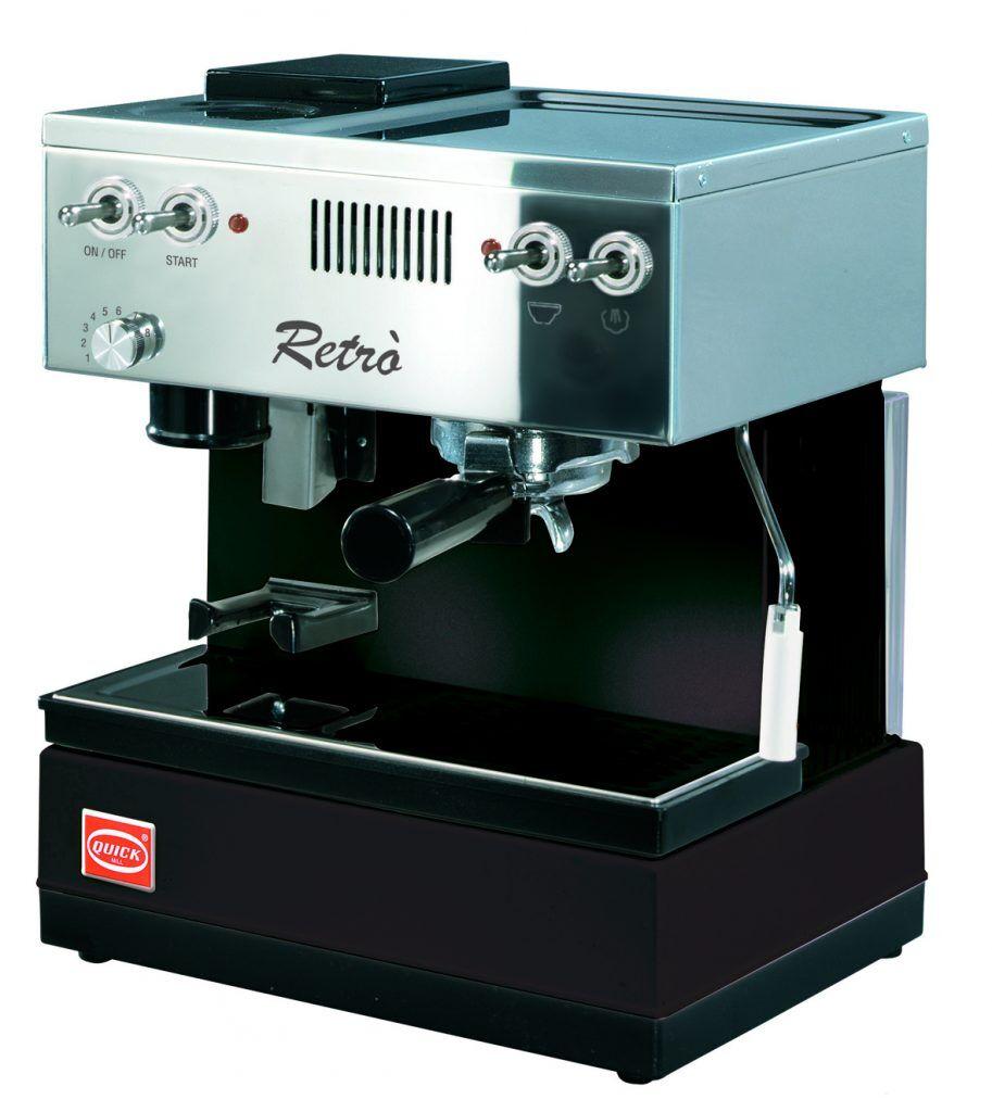 Quick Mill 0835 Retro Espressomaschine Schwarz