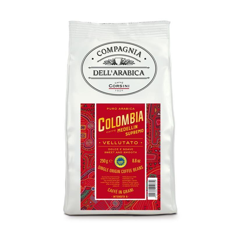 Caffè Corsini Colombia Medellin - Compagnia Dell'Arabica 12x 250 g Bohnen im Beutel