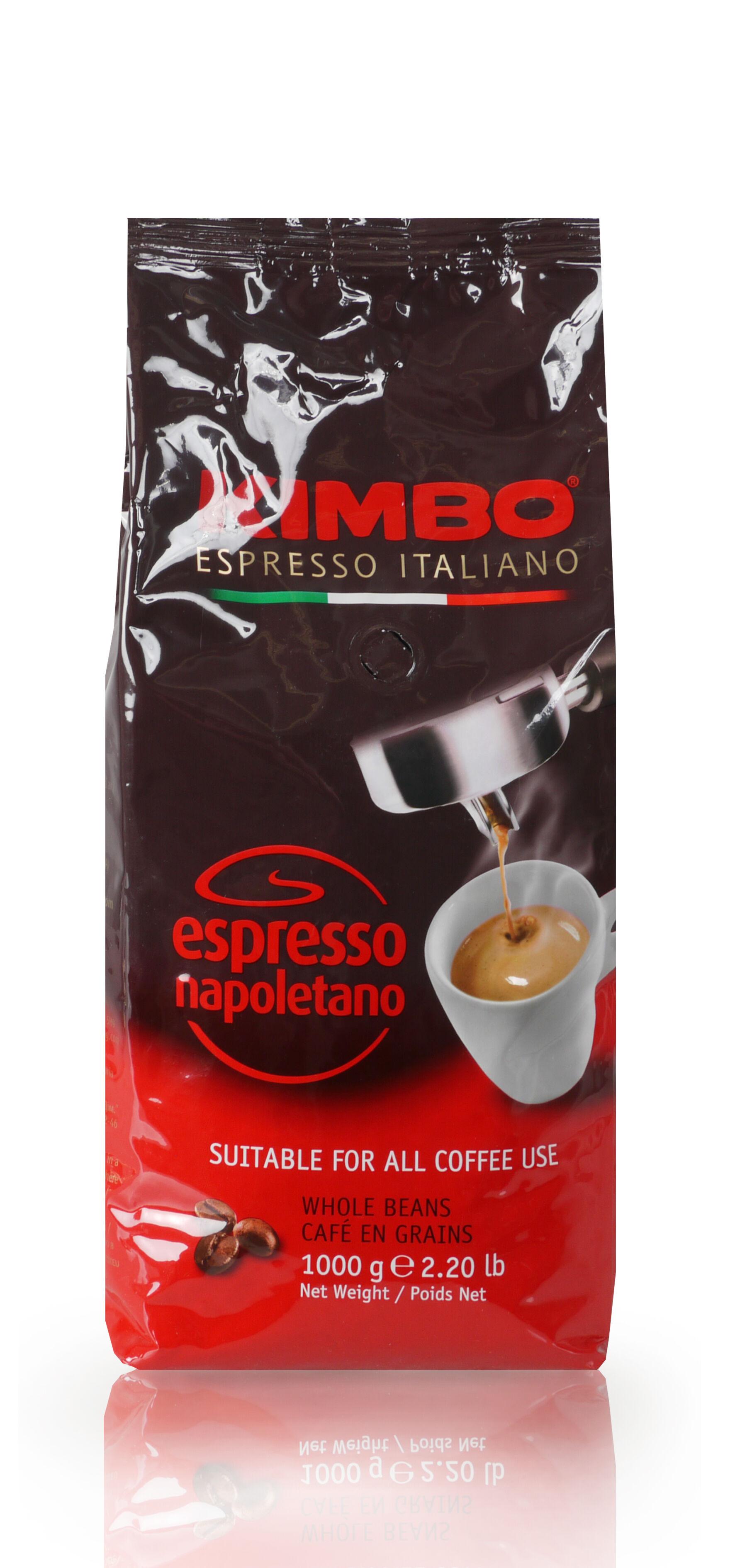 KIMBO Espresso Napoletano 6 X 1 KG Bohnen im Beutel