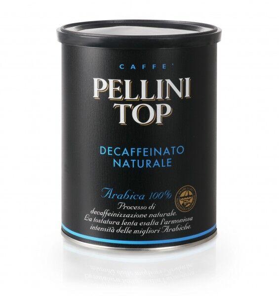 PELLINI Top 100% Arabica Decaffeinato (bez kofeīna) 6x 250 g malts kārbās