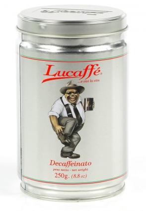 Lucaffé Decaffèinato (entkoffeiniert) 12 X 250 g gemahlen in Dosen