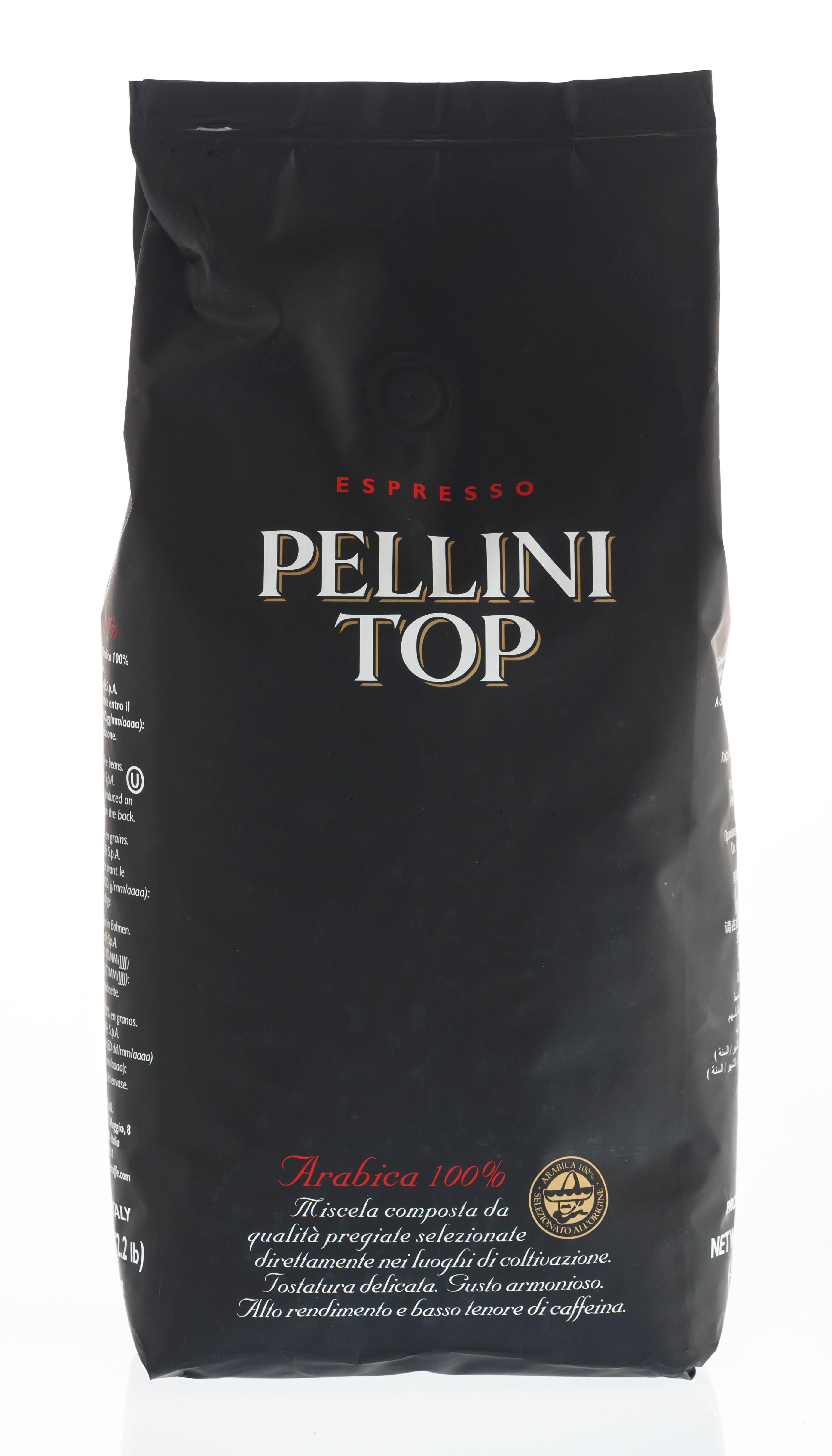 PELLINI Top 100% Arabica 6 X 1 KG pupiņas maisiņā